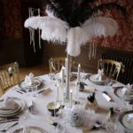 the monochrome look of the 30s era creates a stunning table setting