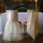 bespoke accessory service - bespoke bride and groom chair covers