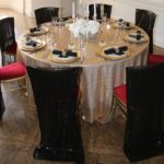 Sequinned Chair covers add to the drama of your vintage styled theme
