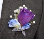 Buttonhole with pearl embellishment - Fabulous Functions UK
