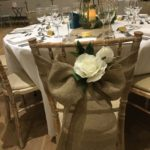 Hessian look linen sash from Fabulous Functions UK