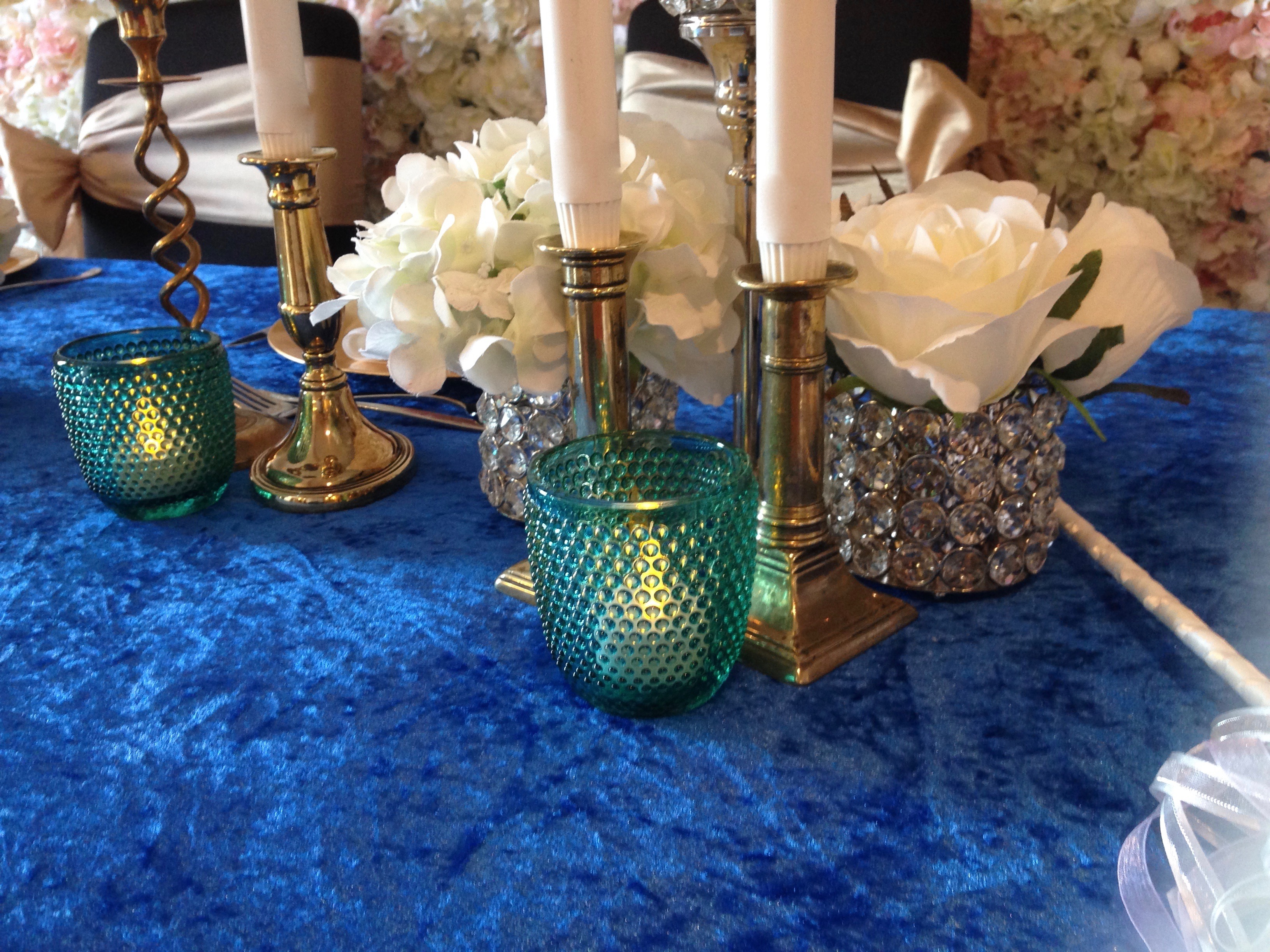 Crushed Velvet Table Linen | Fabulous Functions UK | Miscellaneous Treats
