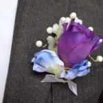 Buttonhole featuring Pantone Purple 2018