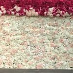 Flower wall staging at Steam-Fabulous Functions UK