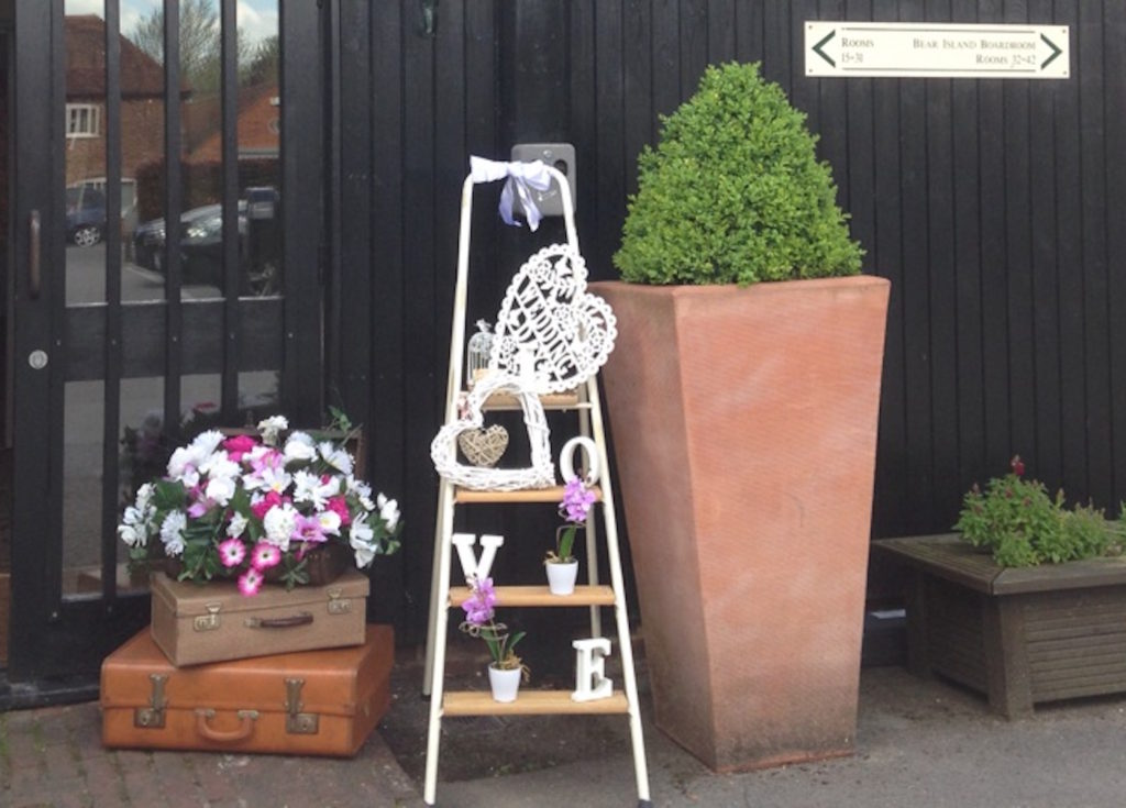 Decorative ladder-Accessory-hire-Fabulous Functions UK - Decorative Wooden Ladder
