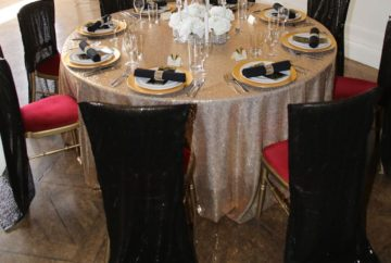 Sequinned Chair Covers | Fabulous Functions UK | London | Bath | Windsor | Swindon | Wiltshire