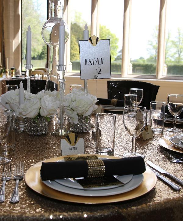 Art Deco inspired table setting - Fabulous Functions UK
