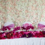 Floral garland- top table decor