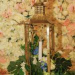 Flower filled- Lantern Centerpiece