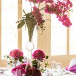 Fuschia Pink Orchid Centrepiece