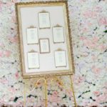 Gold toned free standing easel-FabulousFunctionsUK-Accessory hire