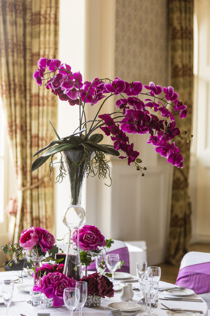 Fuchsia Pink Orchid centrepiece