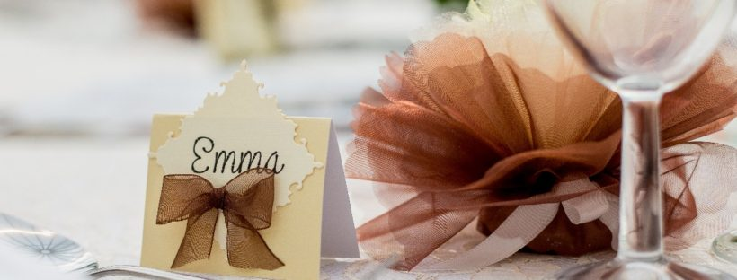 Place Cards or Escort Cards - place cards at a wedding