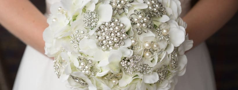 silver toned brooch bouquet | Fabulous Functions UK