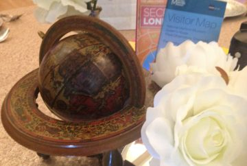 create a travel themed venue decor - Vintage globe- accessory Hire - fabulous functions uk