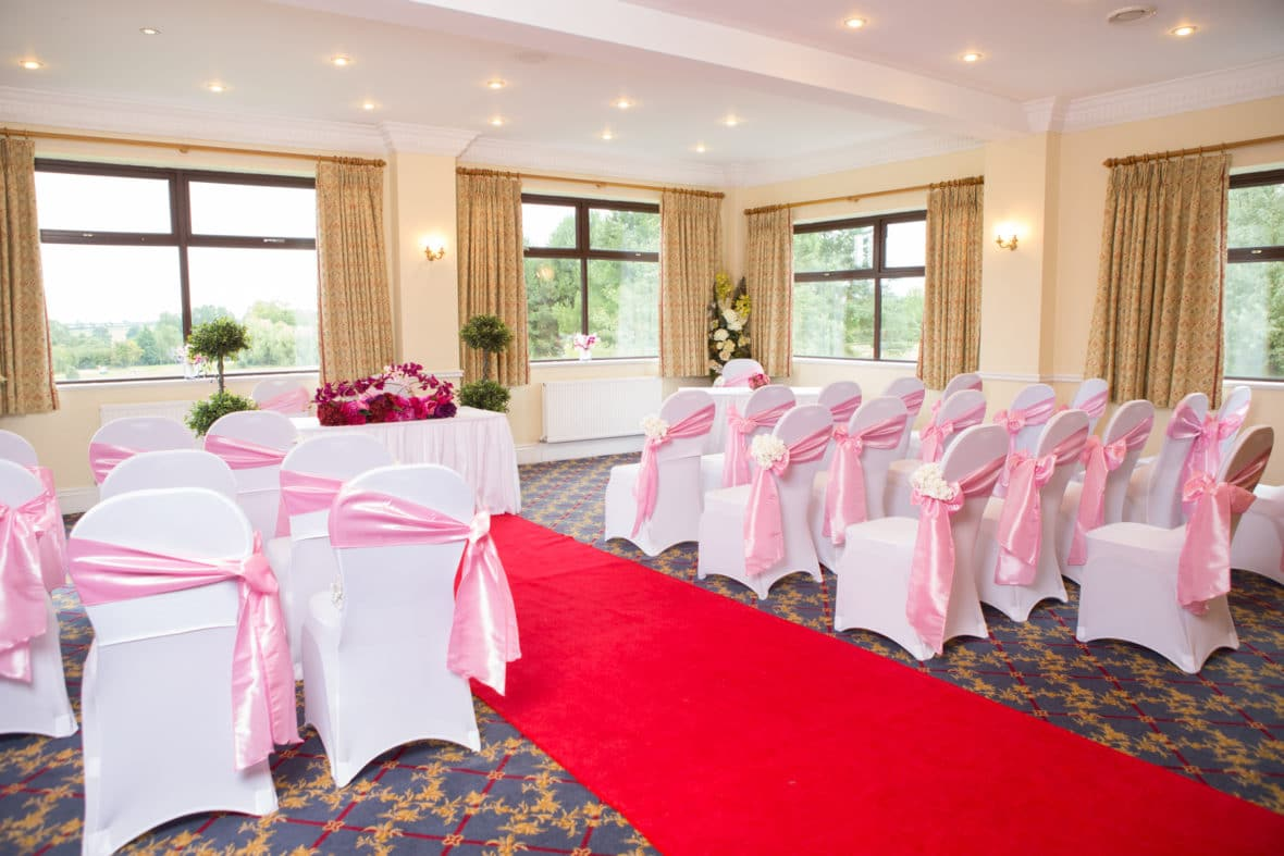 Ceremony room at Wrag Barn