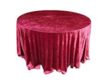 red crushed velvet table cloth