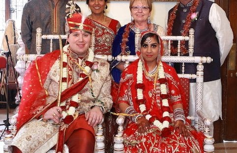 Hindu and British Fusion wedding ceremony