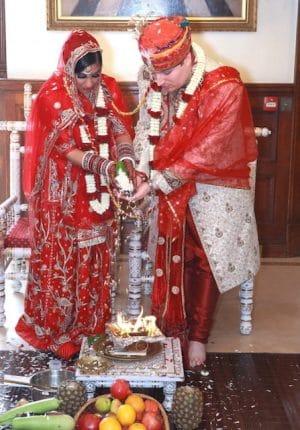 Hundu and British multi cultural wedding