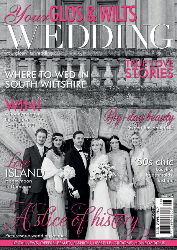 Front cover of issue 10 of Your Glos & Wilts Wedding Magazine