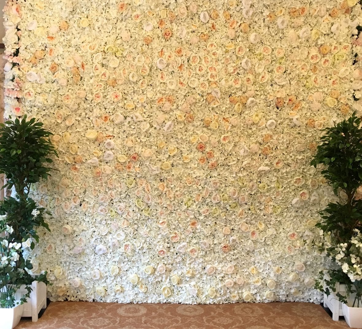 Floralie - Silk flower wall available from Fabulous Functions UK