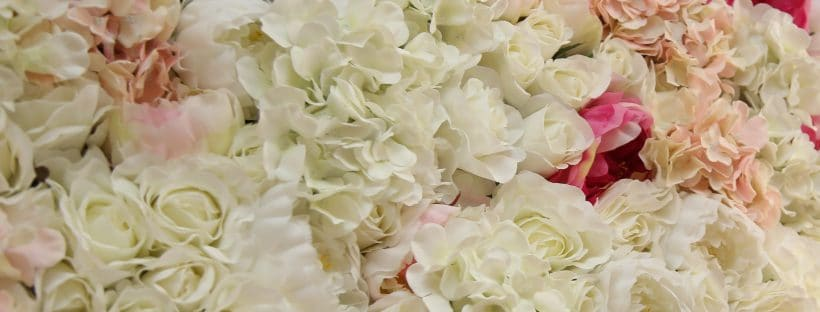 Rosella-Silk Flower Wall - Available from Fabulous Functions UK