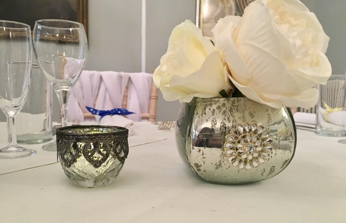Small and medium size mercury tea light holders