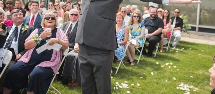 Changing Times in the Wedding World - Flower man at a wedding - breaking with wedding tradition
