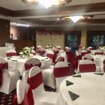 Red themed venue decor- Fabulous Functions uk