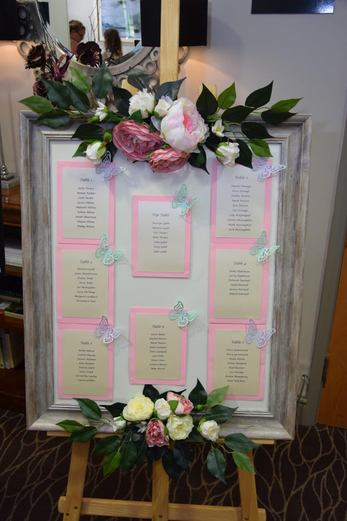 Rustic themed table plan created by Fabulous Function UK