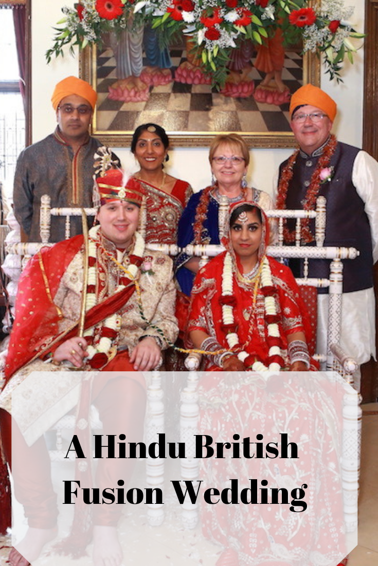 Incorporating the custom from two cultures in this beautiful Hindu British wedding