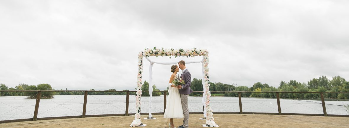 Floral Arch for a beach wedding - Fabulous Functions UK