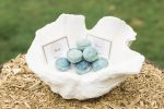 Macaroons guest favours for a beach wedding
