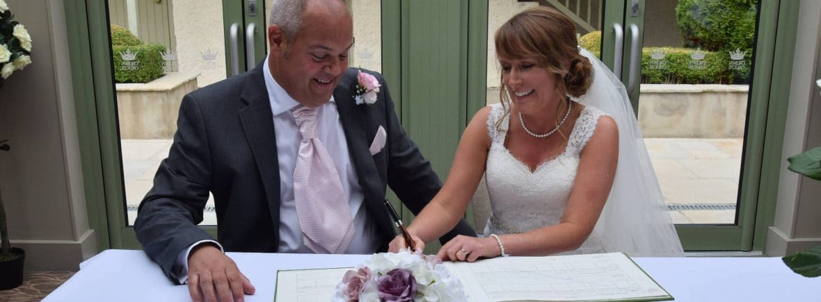 Fabulous Functions UK created the bride's silk bouquet and silk buttonhole for the groom