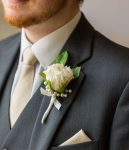 Rose and Pearl Buttonhole-Fablous Functions UK