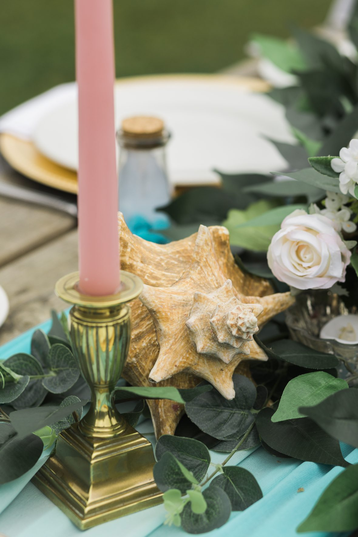Shells detail for beach themed tablescape-Fabulous Functions UK