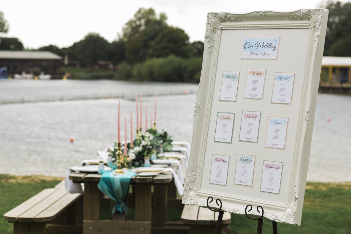 Table Plan for a Beach themed wedding