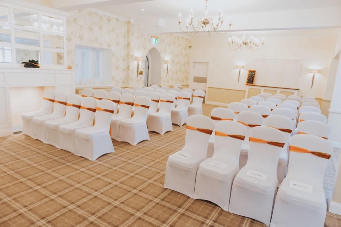 Autumn themed wedding decor