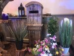 Rustic Post Wooden Box with Spring flowers available from Fabulous Functions UK