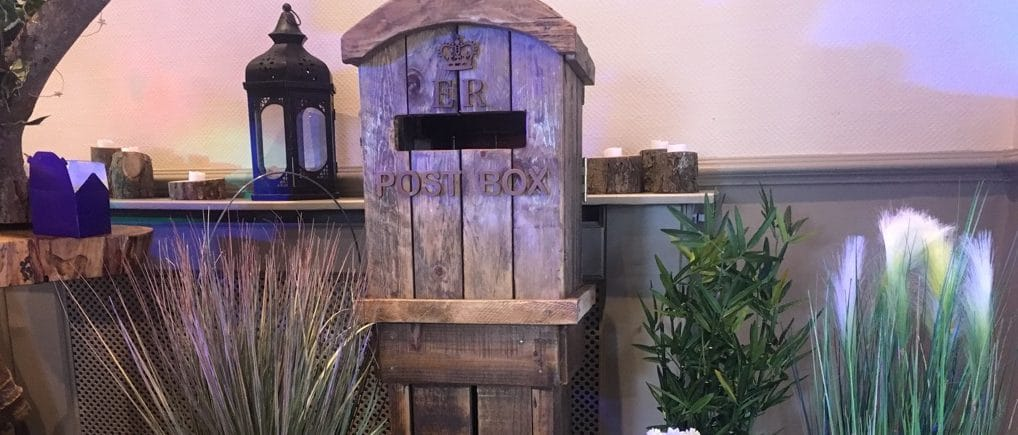 Rustic Post Box with Spring flowers - Fabulous Functions UK