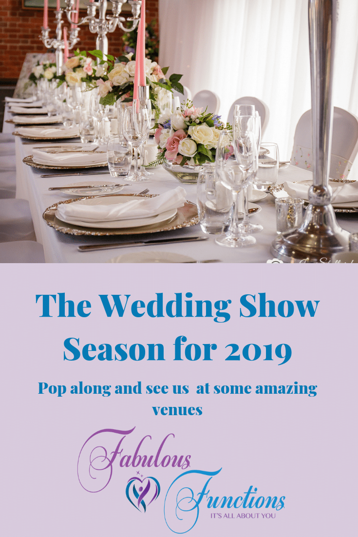 Fabulous Functions UK will be exhibiting at some fabulous venue during the 2019 wedding show season. Pop along  for a chat and see some of our extensive range of accessories us