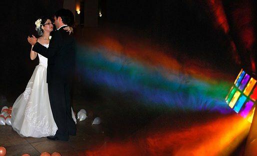 wedding first dance - bridal couple dancing