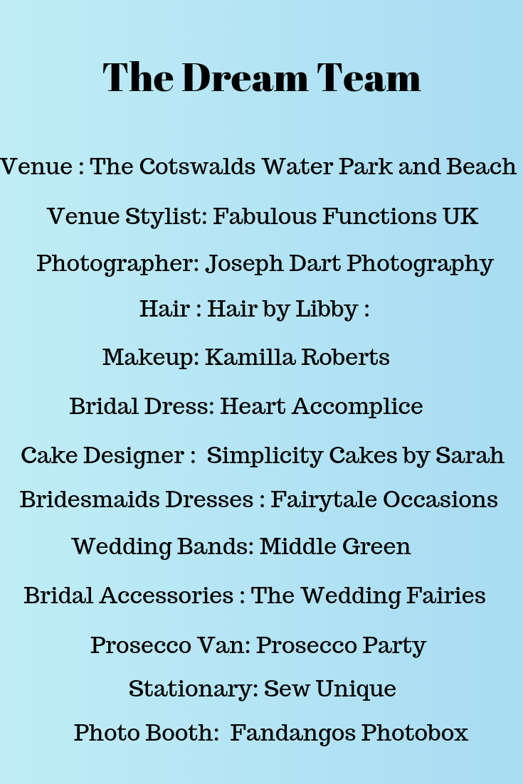 The team who collaborated to create this gorgeous beach themed decor