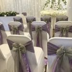 Lilac and Silver themed wedding styled by Fabulous Functions UK