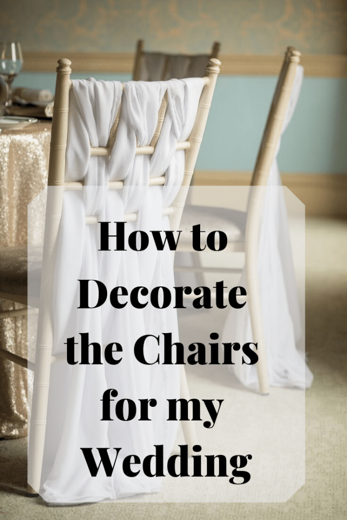 Awesome ideas for decorating your venue chairs for your wedding and celebrations