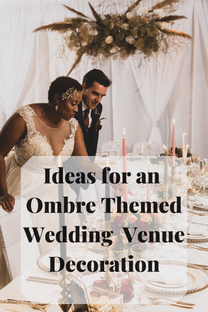 You can use colour for your wedding  decor in some interesting ways. Here we suggest ways to use colours to created the WOW factor for your venue decor. See our ideas for an ombre themed venue decor