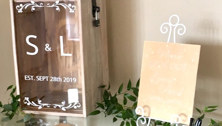 Wedding Card Post Boxes - Fabulous Functions UK provided the couple with a post box for guest to leave their well wishes cards. The post box has a personalised acrylic panel that the couple keeps as a beautiful memento of their special day