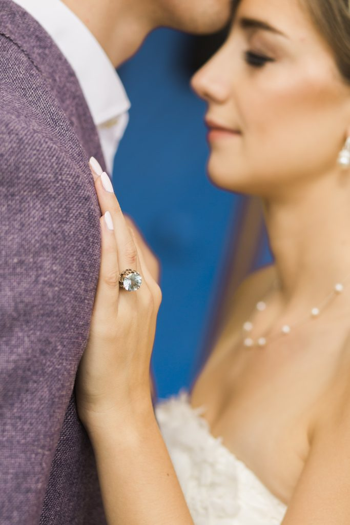 A bespoke engagement ring deserves a bespoke wedding ring. This ensures both rings fit perfectly.