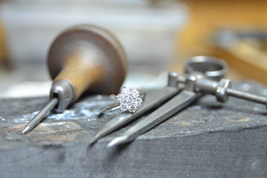 Advice for caring for your engagement ring- Give your ring a regular checkup to ensure the claws are not loose. Loose claws can cause your stones to fall out.