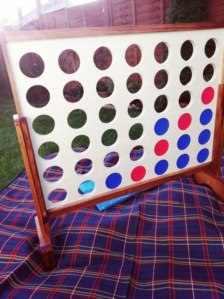Connect Four - giant garden games for hire